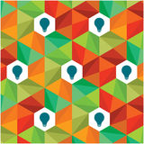 Colourful pattern idea with bulb Stock Photography