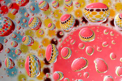 Colourful Pattern through Water Droplets (1) Royalty Free Stock Images
