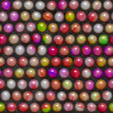 Colorful stone spheres Stock Image