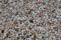 Colourful pebbles underwater stock photography