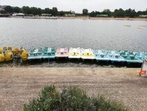 Free Colourful Pedal Boats In Belgrade Royalty Free Stock Photography - 209341557