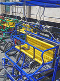 Colourful Pedal Carts Royalty Free Stock Image