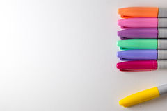 Colourful Pen. A bunch of colourful pen on a table stock images