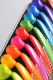 Colourful pen caps Royalty Free Stock Photography
