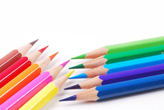 Colourful pencil. Group of arrangment colourful pencil Royalty Free Stock Photos