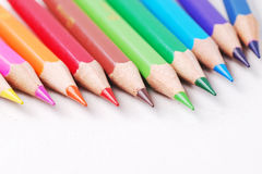 Colourful pencil. Group of arrangment colourful pencil Stock Image