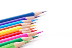 Colourful pencil. Row of colorful pencils with white background Stock Image