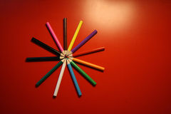 colourful pencils Stock Images