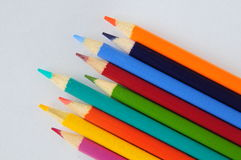 Colourful pencils. On a white background Stock Photo