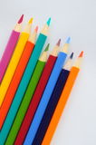 Colourful pencils. On a white background Stock Image