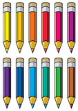 Colourful pencils Royalty Free Stock Photos