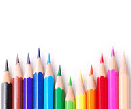 Colourful pencils. Arrangement of many colourful pencils Royalty Free Stock Image