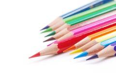 Colourful pencils. Arrangement of many colourful pencils Stock Photos
