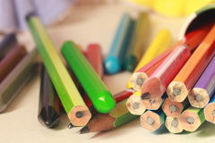 Colourful pencils Royalty Free Stock Images