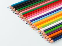 Free Colourful Pencils Isolated Templates To Be Used As Background. Stock Image - 178203511