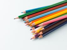 Free Colourful Pencils Isolated Templates To Be Used As Background. Stock Image - 178204081