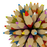 Colourful pencils isolated on white background Royalty Free Stock Images
