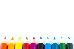 Colourful pencils isolated Stock Image