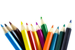 Colourful pencils isolated Royalty Free Stock Photos