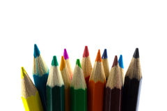 Colourful pencils isolated Stock Images
