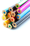 Colourful pencils isolated Stock Photo