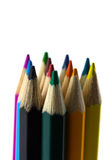 Colourful pencils isolated Royalty Free Stock Photo