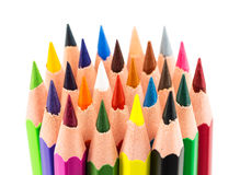 Colourful pencils isolated on a white background Stock Images