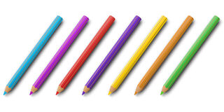 Colourful pencils set  Stock Photography