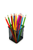Colourful pencils  on the white Royalty Free Stock Photos
