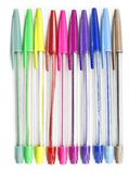 Colourful pens on a white background Stock Image