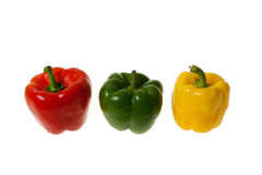 Colourful Peppers. Isolated on White Royalty Free Stock Photography