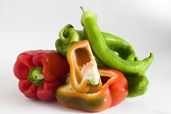 Colourful peppers  Stock Photo