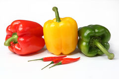 Colourful peppers Stock Photography