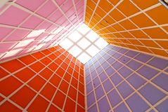 Colourful perspective. Lines and patterns converging in a colourful perspective Royalty Free Stock Photo