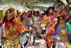 Colourful  Peruvian  Dancers Royalty Free Stock Photography
