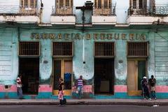 Colourful pharmacy in Centro Havana