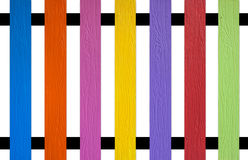 Colourful picket Fence Royalty Free Stock Photography