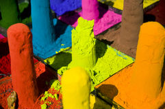 Colourful Pigments in an Indian Market Royalty Free Stock Photo