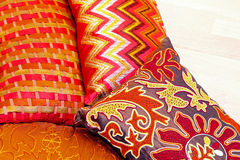 Colourful pillows Stock Photos