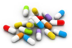 Colourful pills Stock Image