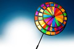 Colourful pinwheel Stock Image