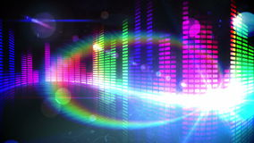 Colourful pixel design of music volume. Digital animation of Colourful pixel design of music volume stock illustration