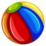 Colourful Plażowa piłka na białym tle royalty ilustracja
