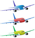 Colourful planes Stock Photos
