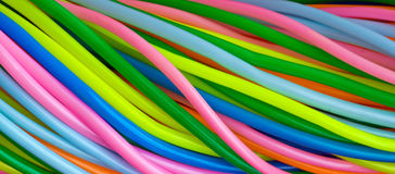 Colourful plastic cables Royalty Free Stock Photo