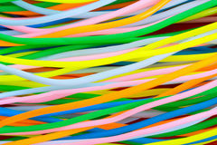 Colourful plastic cables Stock Photos