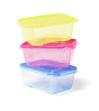 Colourful Plastic Containers Stock Photography