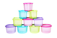 Colourful Plastic Containers Royalty Free Stock Images