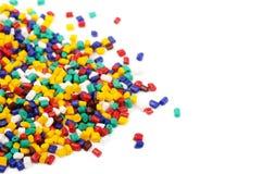 Colourful plastic granules stock images