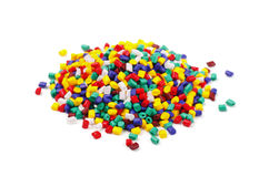 Colourful plastic granules Stock Image